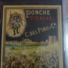 Etiquetas antiguas: ETIQUETA PONCHE S. RAFAEL C.DEL PINO Y CIA JEREZ. Lote 51445939