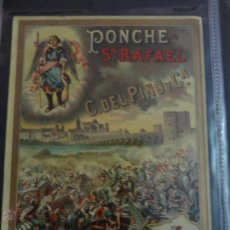 Etiquetas antiguas: ETIQUETA PONCHE S. RAFAEL C.DEL PINO Y CIA JEREZ. Lote 51445963