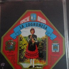 Etiquetas antiguas: ETIQUETA ESPECIAL ANISADO LA LOGROÑESA ALBELDA LOGROÑO. Lote 51478738
