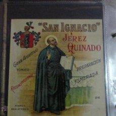 Etiquetas antiguas: ETIQUETA VINCIT OMNIA VERITAS BENEDICTINA SUPERIOR CALIDAD J. BACHS SUÑOL. Lote 51477542