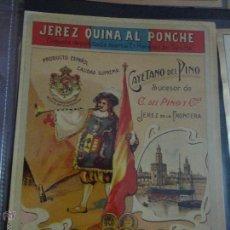 Etiquetas antiguas: ETIQUETA JEREZ QUINA AL PONCHE CAYETANO DEL PINO JEREZ. Lote 51446040