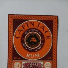 Etiquetas antiguas: ETIQUETA CAPT´N JACK RUM. Lote 51766678