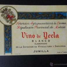 Etiquetas antiguas: ETIQUETA VINO DE YECLA JUMILLA. Lote 51768877