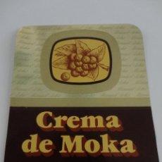 Etiquetas antiguas: ETIQUETA CREMA MOKA MANUEL ACHA AMURRIO. Lote 51886567