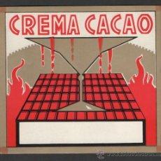 Etiquetas antiguas: ANTIGUA ETIQUETA NUEVA CREMA CACAO. Lote 52295418