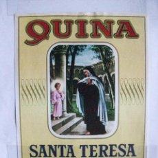 Etiquetas antiguas: ETIQUETA QUINA SANTA TERESA CEBREROS. Lote 52758802