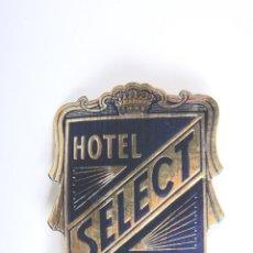 Etiquetas antiguas: ETIQUETA DE HOTEL SELECT GENOVA. Lote 52784961