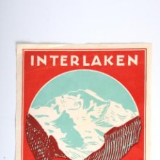 Etiquetas antiguas: ETIQUETA INTERLAKEN HOTEL OBERLAND OBERLANDERHOF. Lote 52786454