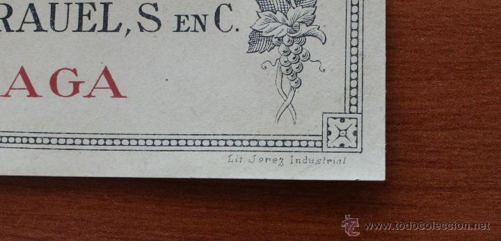 Etiquetas antiguas: ARCAICO ARQUEOLOGO PRIMITIVO: 3 ANTIGUAS LITOGRAFIAS ETIQUETAS BODEGAS VINOS Y LICORES KRAUEL MALAGA - Foto 2 - 141666654