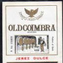Etiquetas antiguas: ET0052, ETIQUETA DE VINO, JEREZ DULCE, OLD COIMBRA, JEREZ.. Lote 53162429