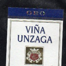 Etiquetas antiguas: ET0190, ETIQUETA DE VINO, VIÑA UNZAGA, ORO, BODEGAS FERNANDEZ GASCO.. Lote 53192695