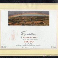 Etiquetas antiguas: ET0191, ETIQUETA DE VINO, FARIÑA, COSECHA 1996, BODEGAS FARIÑA, ZAMORA.. Lote 53192701