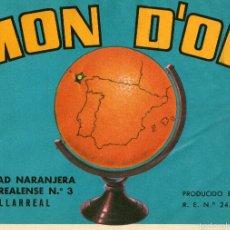 Etiquetas antiguas: ETIQUETA DE NARANJAS. Lote 53996097