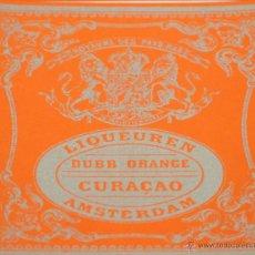 Etiquetas antiguas: LOTE DE 7 ETIQUETAS DE CURAÇAO. LIQUEUREN DUBB ORANGE. AMSTERDAM. AÑOS 60.. Lote 49424446