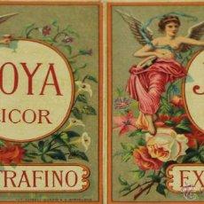 Etiquetas antiguas: COLECCIÓN DE 2 ETIQUETAS DE LICOR JOYA ESTRAFINO. SIGLO XIX.. Lote 49425154