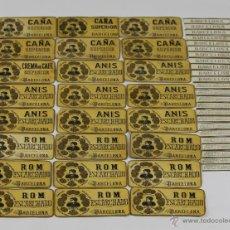 Etiquetas antiguas: LOTE DE 24 ETIQUETAS DE ESCARCHADOS CAMPRUBI Y MALAGELADA. SIGLO XIX.. Lote 49428697