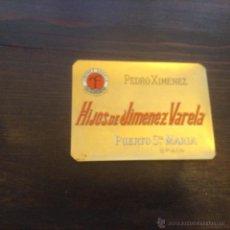 Etiquetas antiguas: ETIQUETA PEDRO JIMENEZ VARELA. Lote 56682227