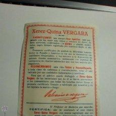 Etiquetas antiguas: ETIQUETA VINO. Lote 54928823