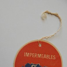 Etiquetas antiguas: ANTIGUA ETIQUETA. IMPERMEABLES ÁFRICA - DIFÍCIL DE CONSEGUIR. Lote 55731198
