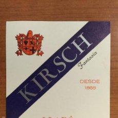 Etiquetas antiguas: ETIQUETA KIRSCH FANTASIA. DESTILERIAS LLADO, ARENYS DE MUNT (BARCELONA). Lote 55779126