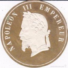 Etiquetas antiguas: ETIQUETA NAPOLEO III EMPEREUR FINALES SIGLO XIX ROTA ZONA BARBA. Lote 56240447