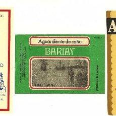 Etiquetas antiguas: LOTE 3 ETIQUETAS RON CUBANAS. Lote 56411535