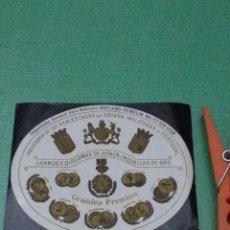 Etiquetas antiguas: ALLIED SPIRITS & WINES NEDERLAND B.V. ETTEN LEUR. GRANDES DIPLOMAS DE HONOR Y MEDALLAS DE ORO.. Lote 56587455
