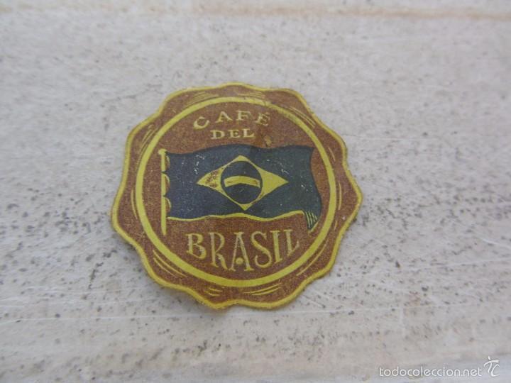 ANTIGUA ETIQUETA CAFÉ DEL BRASIL (Coleccionismo - Etiquetas)