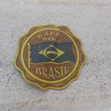 Etiquetas antiguas: ANTIGUA ETIQUETA CAFÉ DEL BRASIL. Lote 57613842