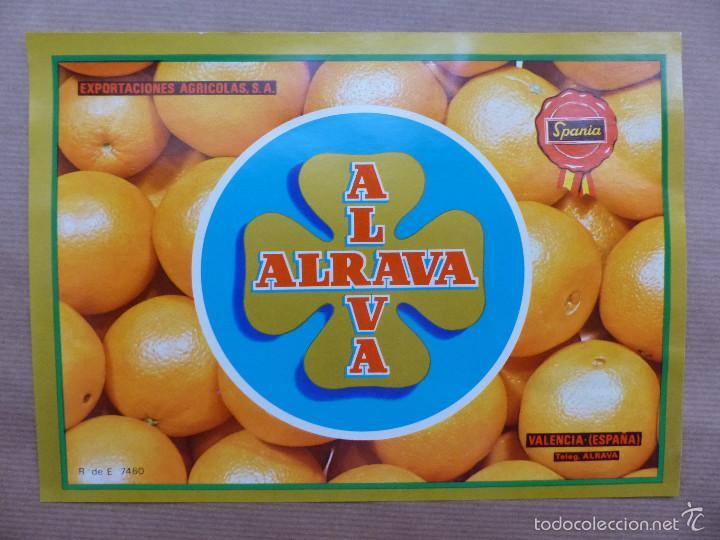 LOTE 30 ANTIGUAS ETIQUETAS DE NARANJAS - ALRAVA, SPANIA - VALENCIA (Coleccionismo - Etiquetas)