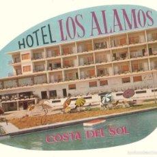 Etiquetas antiguas: ETIQUETA HOTEL LOS ÁLAMOS, COSTA DEL SOL. . Lote 58110712