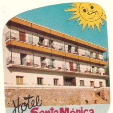 Etiquetas antiguas: ETIQUETA HOTEL SANTA MÓNICA, TORREMOLINOS, COSTA DEL SOL. . Lote 58110757