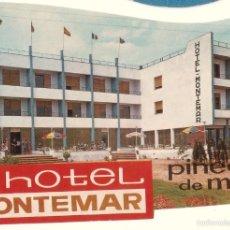 Etiquetas antiguas: ETIQUETA HOTEL MONTEMAR, PINEDA DE MAR. . Lote 58110823