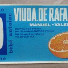 Etiquetas antiguas: 25 ANTIGUAS ETIQUETAS DE NARANJAS - BEBE ANTOINE, VIUDA RAFAEL MARSAL - MANUEL, VALENCIA. Lote 58150037
