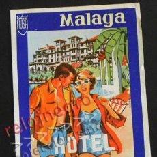 Etiquetas antiguas: ANTIGUA ETIQUETA DEL HOTEL MIRAMAR DE MÁLAGA - PUBLICIDAD TURISMO - VINTAGE - ANDALUCÍA - ESPAÑA. Lote 58250458