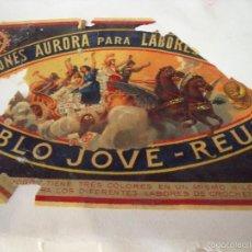 Etiquetas antiguas: ALGODONES AURORA PARA LABORES DE CROCHET, BARCELONA 28CMX17,5CM. Lote 58620398