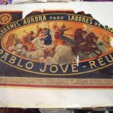 Etiquetas antiguas: ALGODONES AURORA PARA LABORES DE CROCHET, BARCELONA 28CMX17,5CM. Lote 58620426