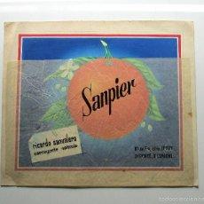 Etiquetas antiguas: ILUSTRACIÓN ORIGINAL SANPIER. Lote 58828866