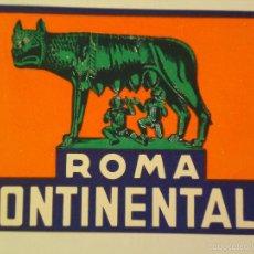 Etiquetas antiguas: ETIQUETA DE HOTEL CONTINENTALE DE ROMA. Lote 58981415