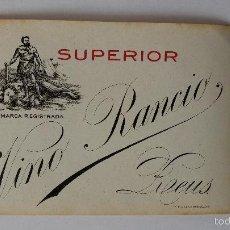 Etiquetas antiguas: ETIQUETA DE VINO RANCIO SUPERIOR ,REUS,TARRAGONA. Lote 60697599