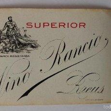 Etiquetas antiguas: ETIQUETA DE VINO RANCIO SUPERIOR ,REUS,TARRAGONA. Lote 60697639