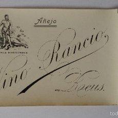 Etiquetas antiguas: ETIQUETA DE VINO RANCIO , REUS, TARRAGONA ,AÑEJO. Lote 60702283