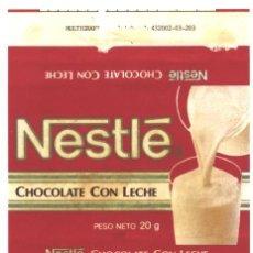 Etiquetas antiguas: NESTLÉ, CHOCOLATE CON LECHE. Lote 61379591
