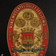 Etiquetas antiguas: MOSCATEL MARIANO ROBERT - -ETIQUETA MUY ANTIGUA -SITGES -VER FOTOS ADICIONALES - (V-6541). Lote 61747128