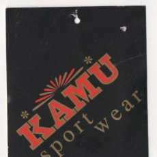 Etiquetas antiguas: ANTIGUA ETIQUETA DE ROPA KAMU SPORT WEAR. Lote 62046812