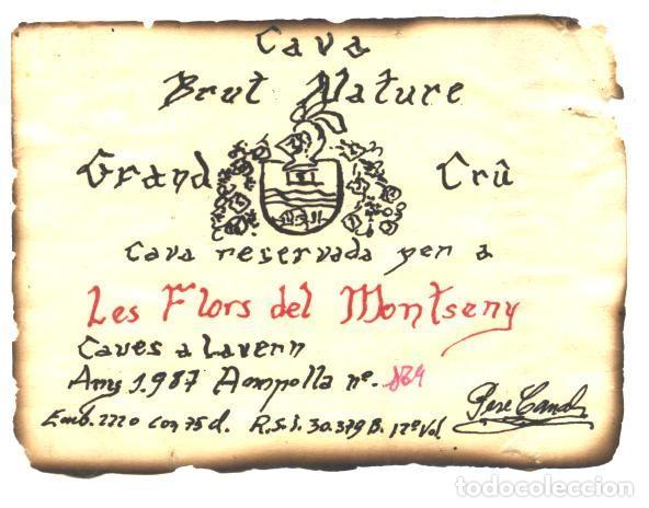 LES FLORS DEL MONTSENY -CAVA (Coleccionismo - Etiquetas)