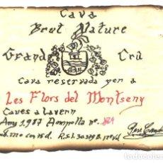 Etiquetas antiguas: LES FLORS DEL MONTSENY -CAVA. Lote 62259848