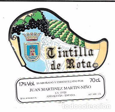 ETIQUETADE VINO TINTILLA DE ROTA. JUAN MARTINEZ MARTIN-NIÑO. ROTA (Coleccionismo - Etiquetas)