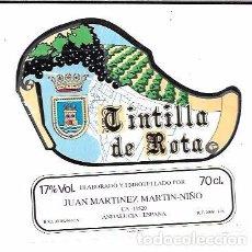 Etiquetas antiguas: ETIQUETADE VINO TINTILLA DE ROTA. JUAN MARTINEZ MARTIN-NIÑO. ROTA. Lote 62328028
