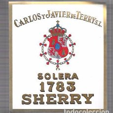 Etiquetas antiguas: ETIQUETA DE SOLERA SHERRY 1783. CARLOS Y JAVIER DE TERRY, S.L. PUERTO DE SANTA MARIA.. Lote 62331340